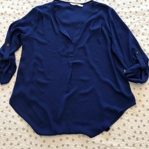 Lush Sheer Tunic M Cobalt Blue. Almost new!